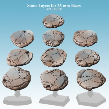Stone Layers for 25 mm Bases
