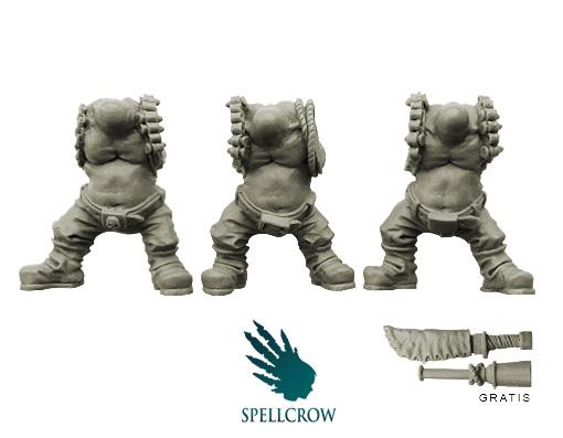 10 Bitz Spellcrow Biker Pilots Ork Heads Storm Flying Squadron Orcs Heads