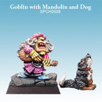 Goblin with Mandolin and Dog