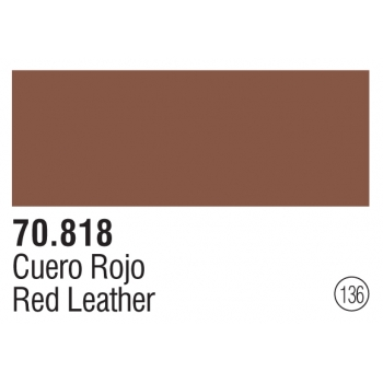 136 Red Leather - Vallejo Model Color