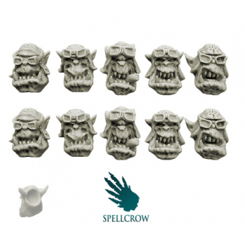 Orcs Storm Flying Squadron Heads (ver. 2)