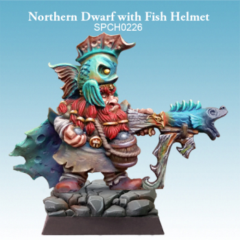 Northern Dwarf with Fish Helmet